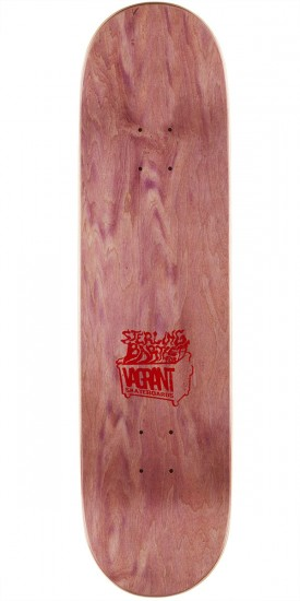 """Vagrant Rags To Rags Skateboard Complete - Yellow Wood Stain - 8.25"""""""