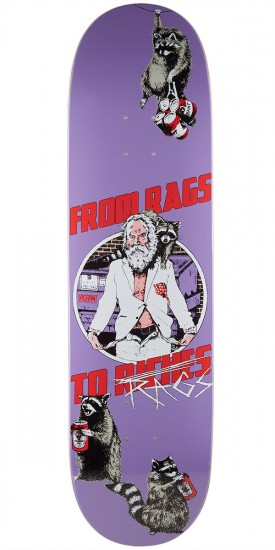 """Vagrant Rags To Rags Skateboard Deck - Purple - 8.50"""""""