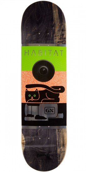 "Habitat GX1000 Large Skateboard Deck - 8.25"" - Black Stain"