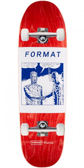 Format Leadership Skateboard Complete - Shaped - Red Stain
