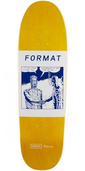 """Format Leadership Skateboard Deck - Shaped - Yellow Stain - 8.25"""""""
