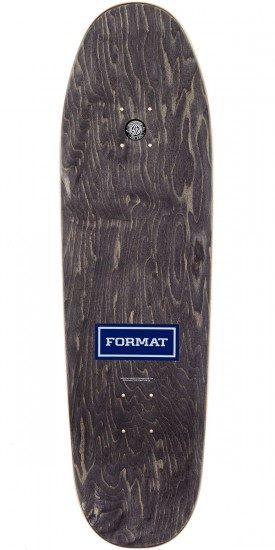 Format Leadership Skateboard Complete - Shaped - Yellow Stain - 8.25""