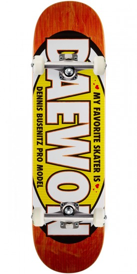 "Real Busenitz Favorite Skateboard Complete - 8.25"" - Orange Stain"
