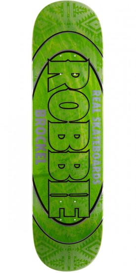 "Real Brockel Pro Oval Skateboard Deck - 8.25"" - Light Green Stain"