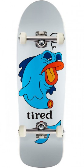 """Tired Fish on Big Skateboard Complete - 9.50"""""""