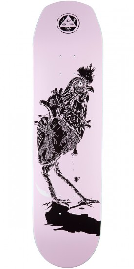 """Welcome Cage-Free Heart on Helm of Awe 2.0 Skateboard Deck - Lavender - 8.38"""""""
