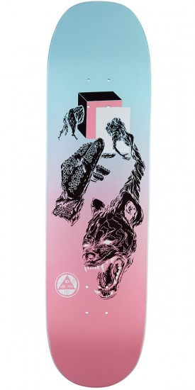Welcome Face of a Lover on Moontrimmer 2.0 Skateboard Deck - Pink/Blue - 8.5""