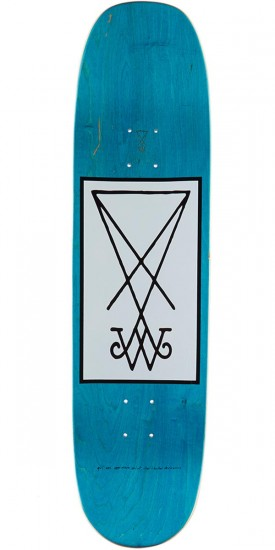 """Welcome Face of a Lover on Moontrimmer 2.0 Skateboard Deck - Pink/Blue - 8.5"""""""
