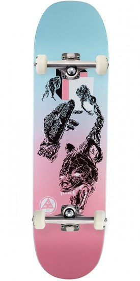 Welcome Face of a Lover on Moontrimmer 2.0 Skateboard Complete - Pink/Blue - 8.5""