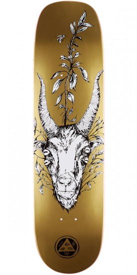 Welcome Goathead on Phoenix Skateboard Deck - Gold - 8.0""