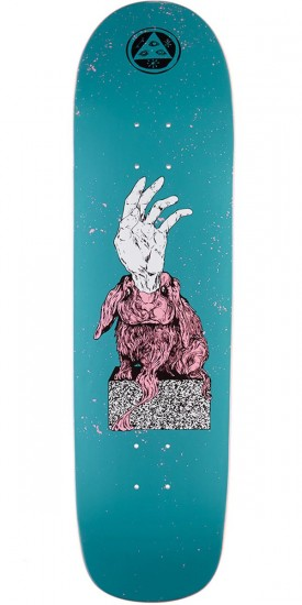 """Welcome Magic Bunny on Son of Planchette Skateboard Deck - Dark Teal - 8.38"""""""