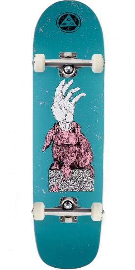 """Welcome Magic Bunny on Son of Planchette Skateboard Complete - Dark Teal - 8.38"""""""