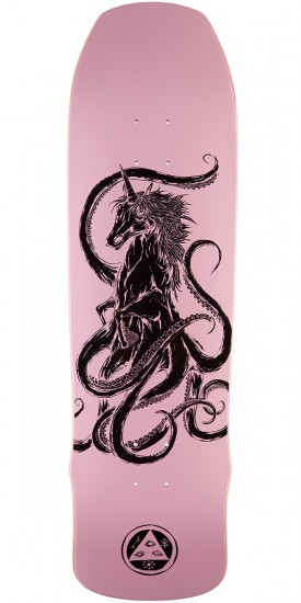 Welcome Seahorse on Time Traveler Skateboard Deck - Pink -  8.8
