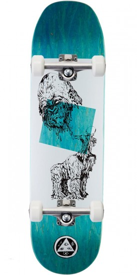 Welcome Wax Gorilla on Baculus Skateboard Complete - White/Black - 8.75