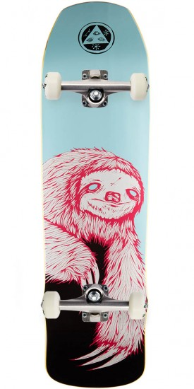 Welcome Sloth on Time Traveler Skateboard Complete - Blue/Black - 8.8