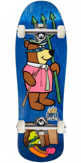 Almost Yogi Bear Picnic Screenprint Skateboard Complete - 10.00 - Blue