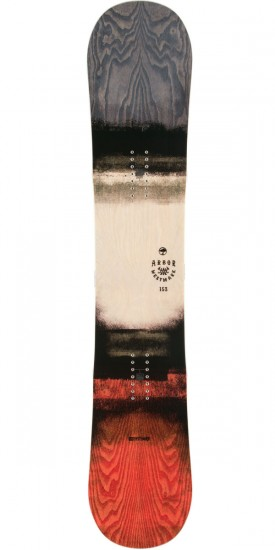 Arbor Westmark Snowboard 2015 - Red/Hand Dyed Ash