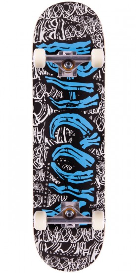 Bacon Blue Font Skateboard Complete - 8.50""