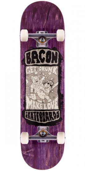 Bacon Drunk Love Skateboard Complete - 8.5""