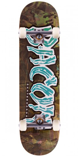 Bacon Psych Font Skateboard Complete - Teal - 8.25""