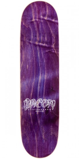 Bacon Red Font Skateboard Deck - 8.25""