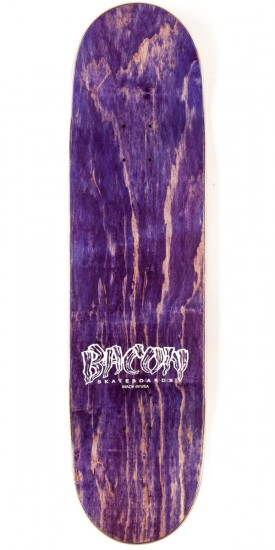 Bacon Woodgrain Logo Skateboard Complete - Blue - 8.50""