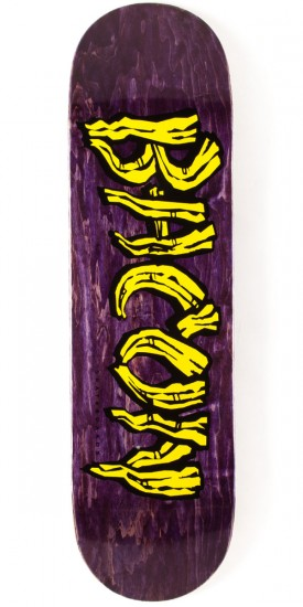 Bacon Woodgrain Logo Skateboard Deck - Yellow - 8.75""