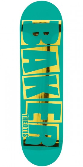 Baker Beasley Brand Name Skateboard Deck - Teal/Gold - 8.25""