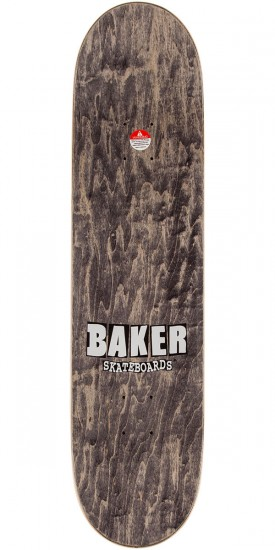 Baker Brand Logo Skateboard Complete - Black/Red/Yellow - 8.0""