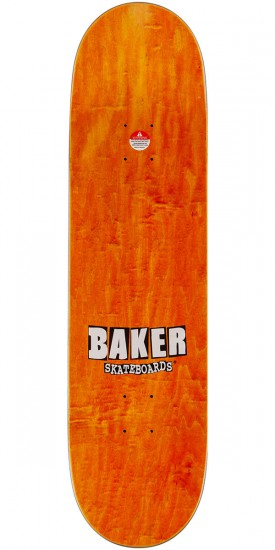 Baker Brand Logo Skateboard Deck - Blue/Yellow - 8.5""