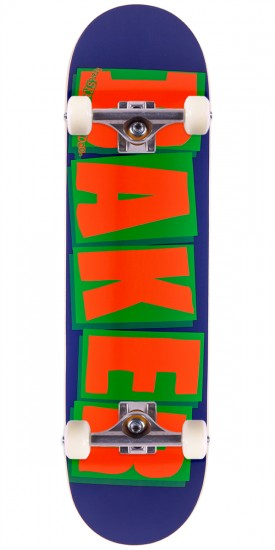 Baker Brand Logo Skateboard Complete - Navy/Orange - 8.25""