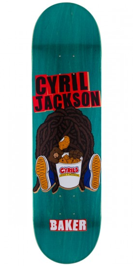 Baker CJ Chicken Skateboard Deck - Teal Stain - 8.25""