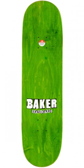 Baker Cyril Name Skateboard Deck - Green - 8.125""