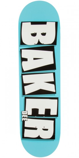 Baker Dee Brand Name Skateboard Deck - Neon Blue - 8.475""