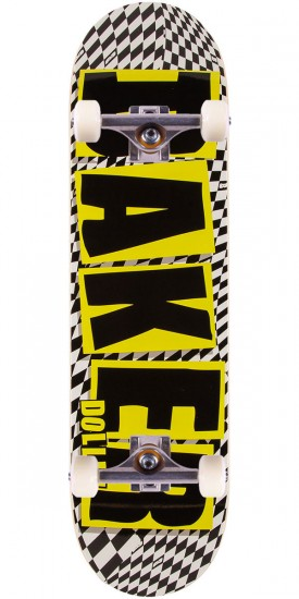 Baker Dustin Dollin Brand Name Check Skateboard Complete - Yellow - 8.25""