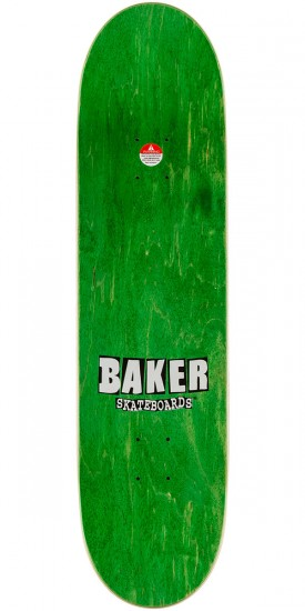 Baker Dustin Dollin Brand Name Check Skateboard Deck - Yellow - 8.25""