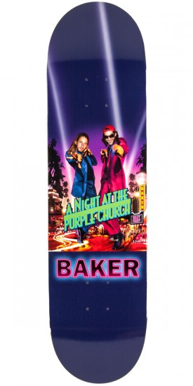 Baker Figgy and Riley Hawk Purple Church Skateboard Deck - 8.25""