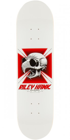 Baker Hawk Tribute Skateboard Deck - White/Red - 8.25""