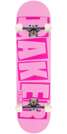 Baker Herman Brand Name Skateboard Complete - Hot Pink - 8.125""