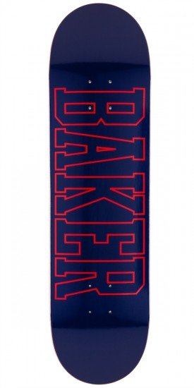 Baker Lakeland Skateboard Deck - Navy/Red - 8.25""