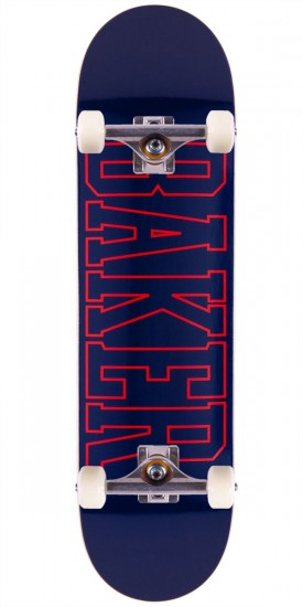 Baker Lakeland Skateboard Complete - Navy/Red - 8.25""
