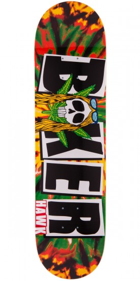 Baker Riley Hawk Tie Dye Rasta Skateboard Deck - 8.00""