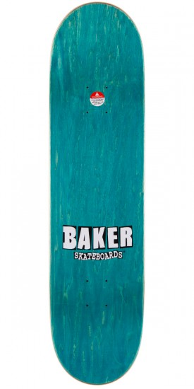 Baker Stacked Chill Wave Skateboard Complete - Purple/Green - 7.875""