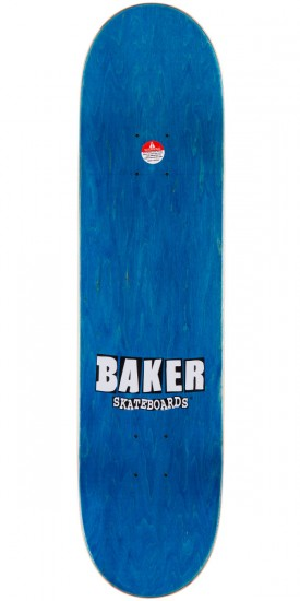 Baker Stacked Logo Skateboard Deck - Grey/Teal - 8.0""