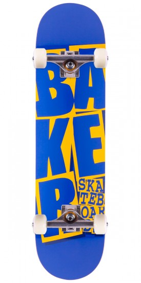 """Baker Stacked Skateboard Complete - Blue/Yellow - 7.75"""""""