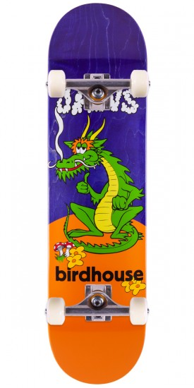Birdhouse Jaws Dragon Skateboard Complete - Purple Stain - 8.0""
