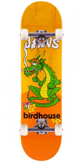 """Birdhouse Jaws Dragon Skateboard Complete - Yellow Stain - 8.0"""""""