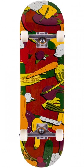 Birdhouse Jaws Veg Skateboard Complete - Red Stain - 8.375""