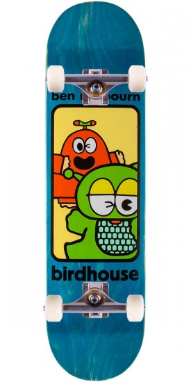 """Birdhouse Raybourn Things Skateboard Complete - Blue Stain - 8.125"""""""