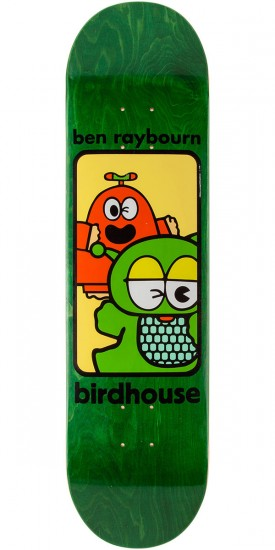Birdhouse Raybourn Things Skateboard Deck - Green Stain - 8.125""